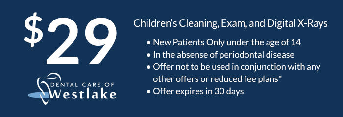 $29 children's cleaning, exam, and x-rays